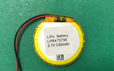 Special Shape Round Lithium Polymer Battery 3.7V LPR473736 530mAh