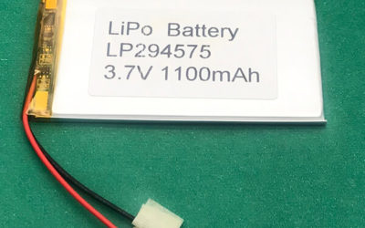 3.7V Long Lithium Polymer Battery LP294575 1100mAh 4.07Wh
