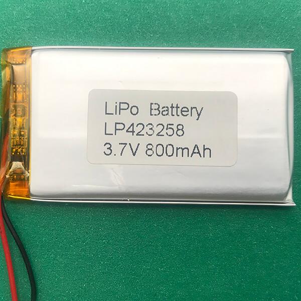 3.7V Standard Lithium Polymer Battery LP423258 800mAh 2.96Wh