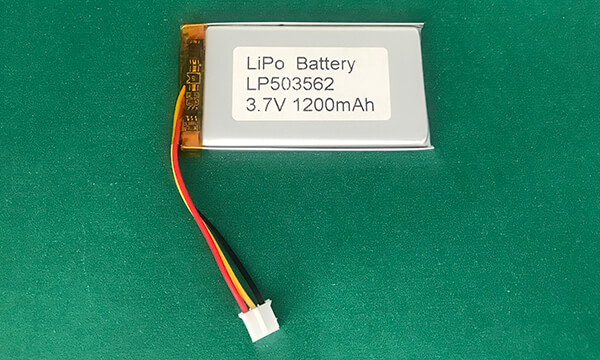 LP503562 3.7V Lithium Polymer Battery 1200mAh High Capacity 4.44Wh
