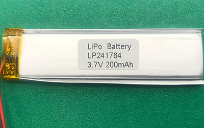 3.7V 200mAh Long Lithium Polymer Battery LP241764