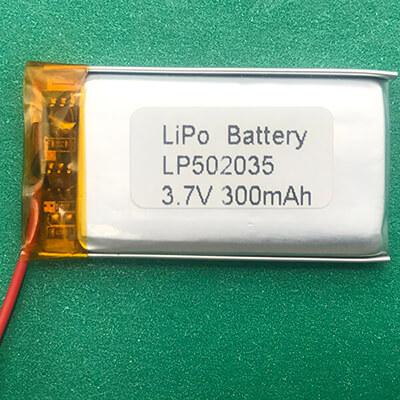 Popular Lithium Polymer Battery 3.7V LP502035 300mAh