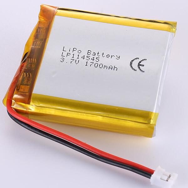 Square Lithium Polymer Battery LP114545 3.7V 1700mAh