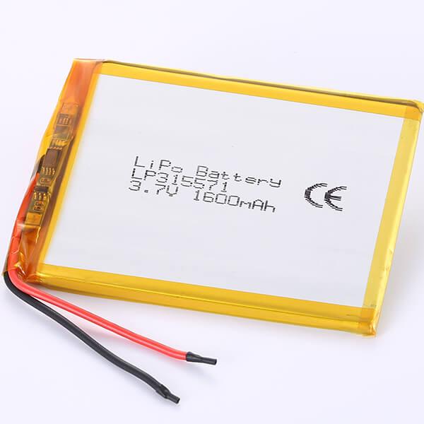 Lithium Polymer Battery LP315571 3.7V 1600mAh