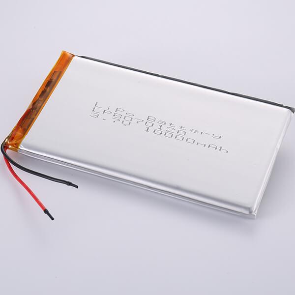 Premium Quality 3.7V Lithium Polymer Battery LP8070120 10000mAh