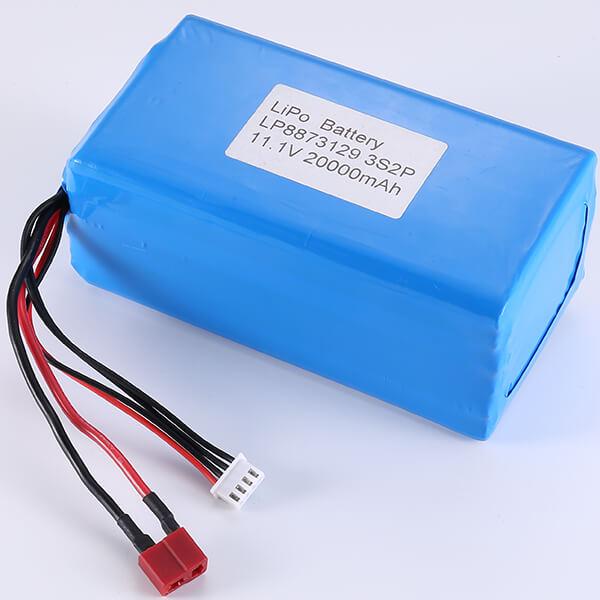 11.1V Lithium Polymer Battery Pack LP8873129 3S2P 20000mAh