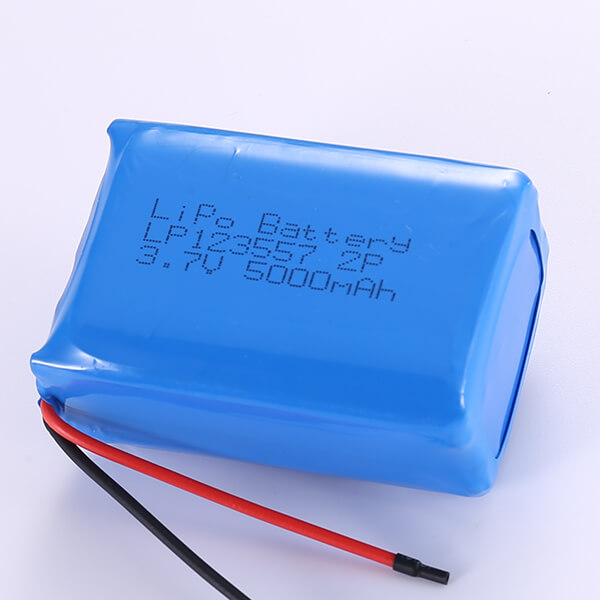 3.7V Lithium Polymer Battery Packs LP123557 2P 5000mAh