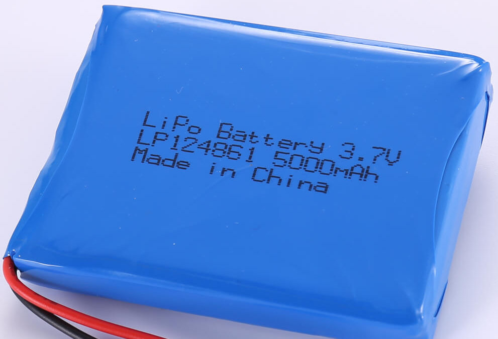 5000mAh High Capacity Lithium Polymer Battery LP124861 3.7V