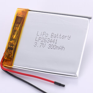 3.7V Lithium Polymer Battery LP263441 300mAh