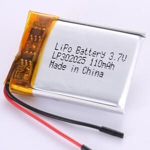 110mAh Small Capacity Lithium Polymer Battery LP302025 3.7V