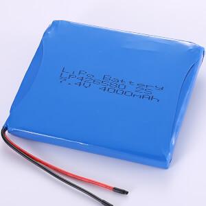 7.4V Lithium Polymer Battery Packs LP426580 2S 4000mAh