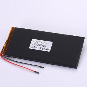 Long Lithium Polymer Battery 3.7V LP4347106 2600mAh