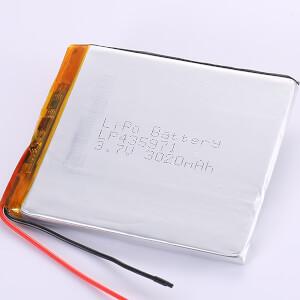 Large Lithium Polymer Battery 3.7V LP435971 3020mAh