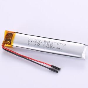 3.7V LP501050 190mAh Long and Narrow Lithium Polymer Battery