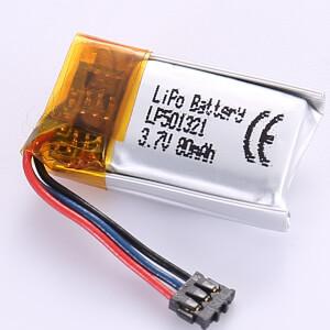 3.7V Smallest Lithium Polymer Battery LP501321 80mAh