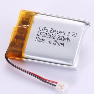 300mAh Standard Lithium Polymer Battery LP502522 3.7V