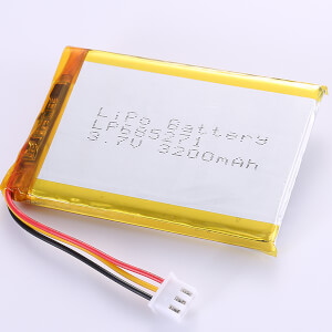 3200mAh Lithium Polymer Battery LP685271 3.7V for Project