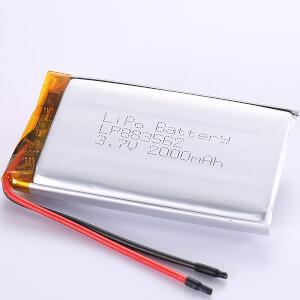 3.7V 2000mAh Lithium Polymer Battery LP883562 In Stock