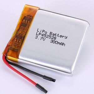 3.7V Square Lithium Polymer Battery LP452528 300mAh