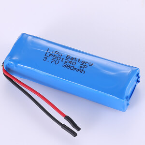 Lithium Polymer Battery Pack 3.7V LP501240 2P 380mAh