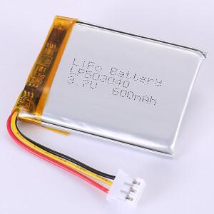 Hot Seller Lithium Polymer Battery 3.7V LP503040 600mAh