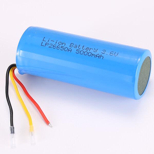 5000mAh Lithium Polymer Battery LP26650A 3.6V